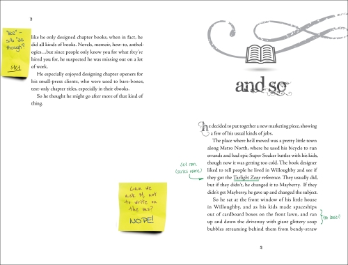 Young Adult novel spread